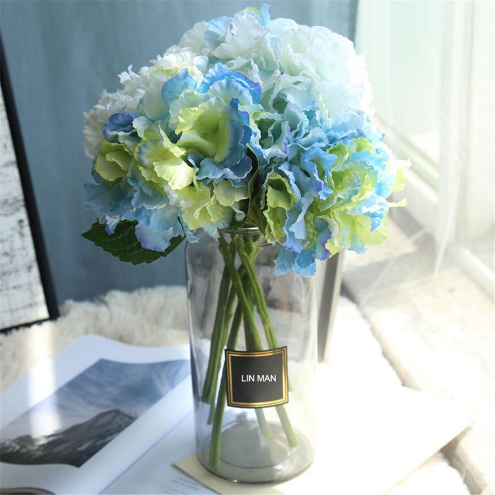 Silk Hydrangea Bride Bouquet Artificial Flowers Wedding Home New