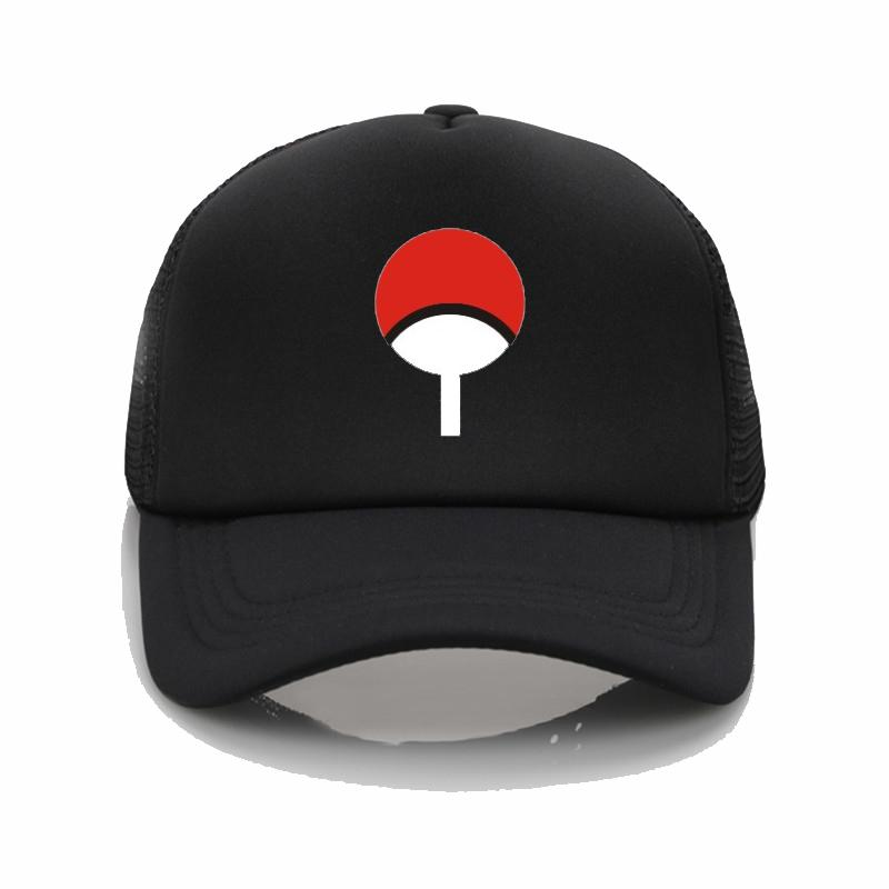 f20172d285e7f Japanese Anime Naruto Dad Hat Uchiha Family Logo Baseball Caps Black Snapback  Hat Hip Hop Hat For Women Men Caps Hats Fitted Cap From Menceng1986