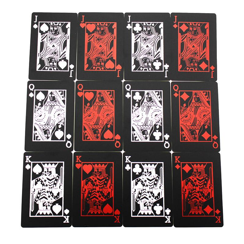 Plastic Box Poker Black Playing Cards Family Game Waterproof S445