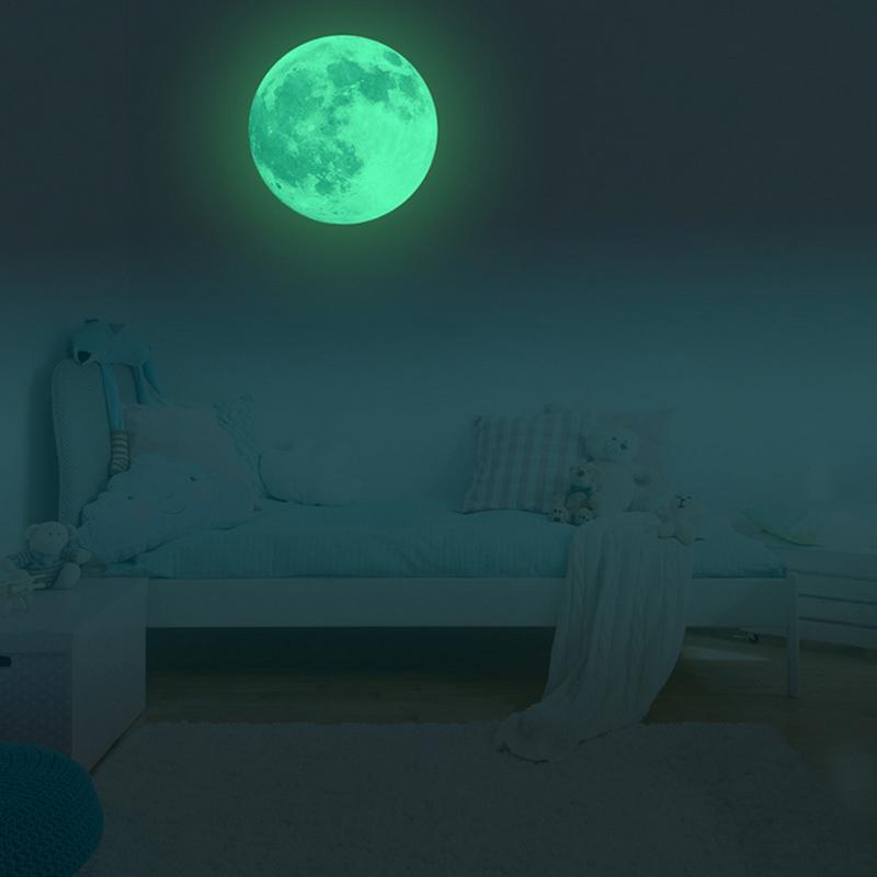 3D Wandaufkleber Vollmond Licht Leuchtende PVC Wandkunst Aufkleber Schlafzimmer Glow Removable Dekorationen Adhesive Wall Pappers 887070