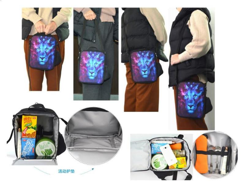 60f3acc9742a Game Fortnite Childen Lunch Bag Kids School Outdoor Picnic Bags Teenager  Students Shoulder Bag Thermal Lunch Box Cooler Insulated bag New