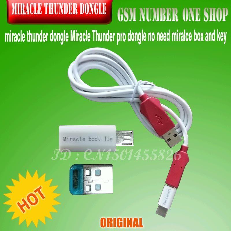 miracle thunder dongle +cable Miracle Thunder pro dongle no need miralce box and key