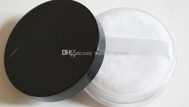 50G 50ml Cosmetic Loose Powder Empty Jar Makeup Powder Containers Case Box with Sifter Black Lids