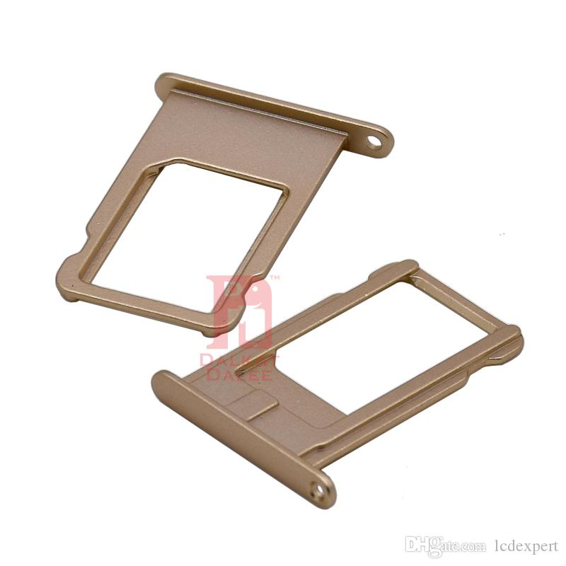 """For Iphone 6 Plus Nano SIM Card Slot Tray Holder Replacement Part Adapter Kit Fix Spare Parts for 5.5"""" Gray Gold Silver"""