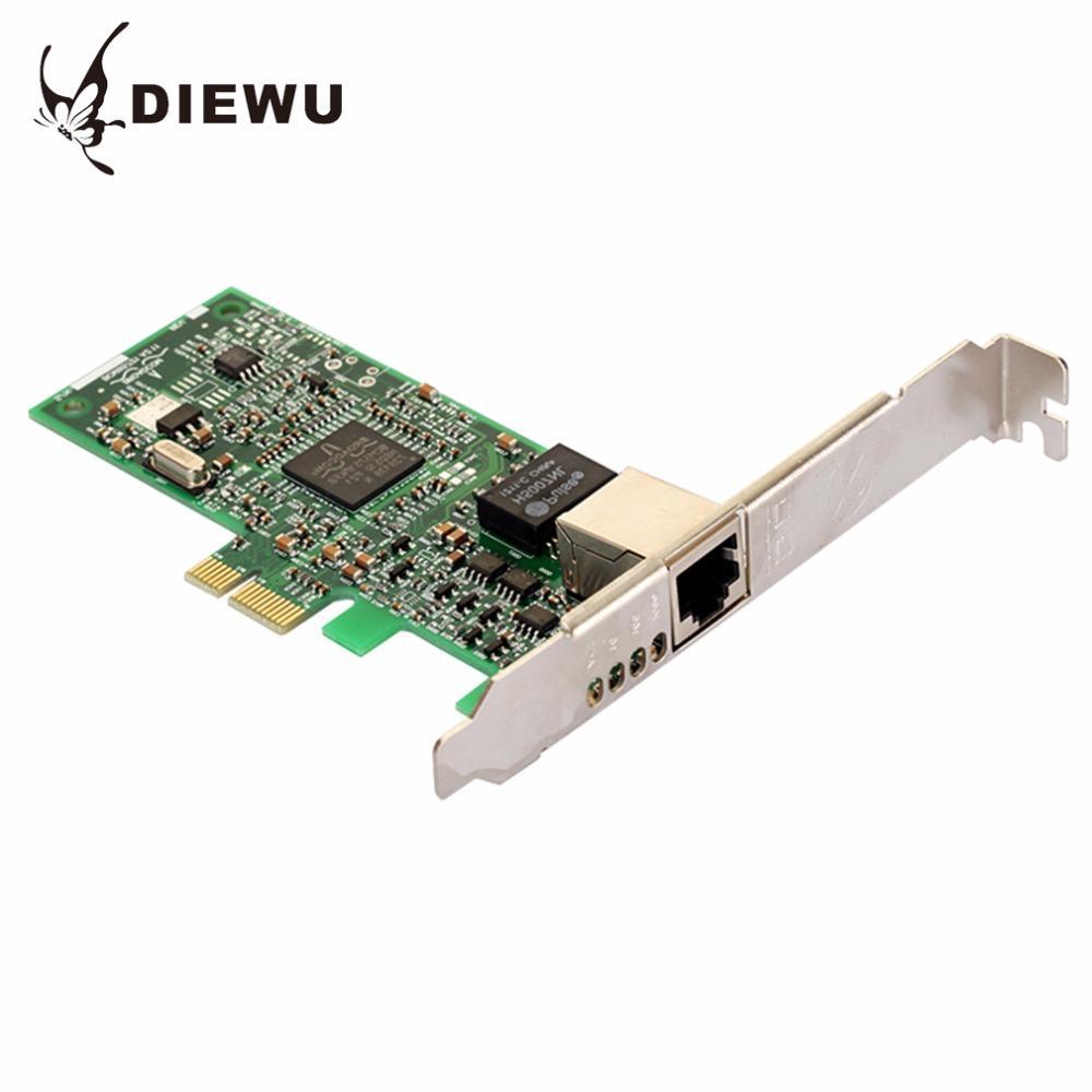 DIEWU BCMI-E Diskless Boot Desktop Gigabit Ethernet Network Card Adapters Slot RJ45 LAN Adapter Support ESXi5.5