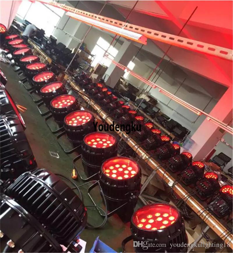 4 adet açık disko duvar süslemeleri DMX 512 yakınlaştırma ip 65 led 18 * 15w su geçirmez yakınlaştırma par ışık led 5in1 par rgbwa