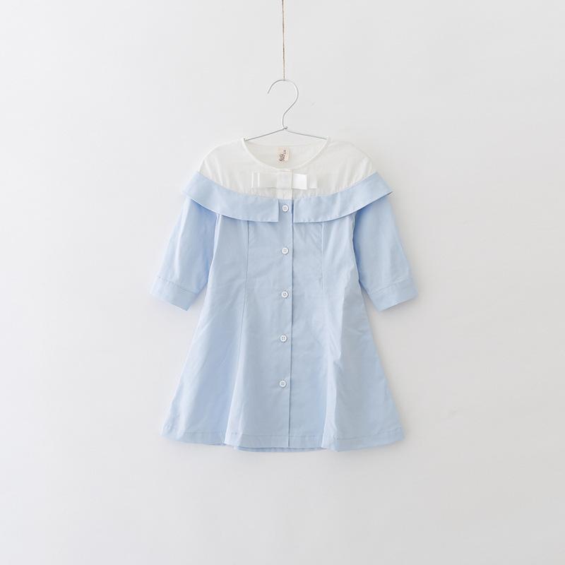 e452d9dd0 Vestido para niños Falda para niñas de primavera y verano Sólido con  vestido TuTu 100% algodón Vestido para niñas de algodón hasta la rodilla ...