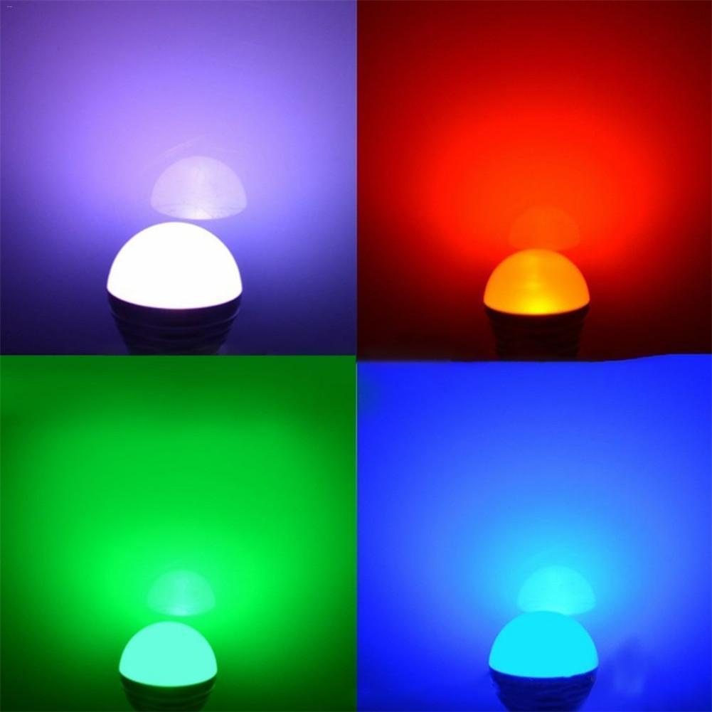 16 Ampoule Lumière Couleurs E27 Nuit Atmosphère Changeantes 3w À Rgb Led Télécommande De gbf7Yy6