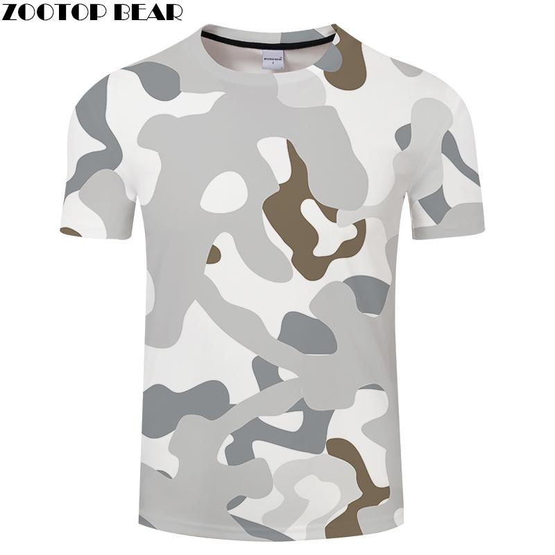 Camo Men Tshirt 3D Print t Shirt Summer T-Shirt Casual Tops Short Sleeve Tees O-neck Streetwear Drop Ship