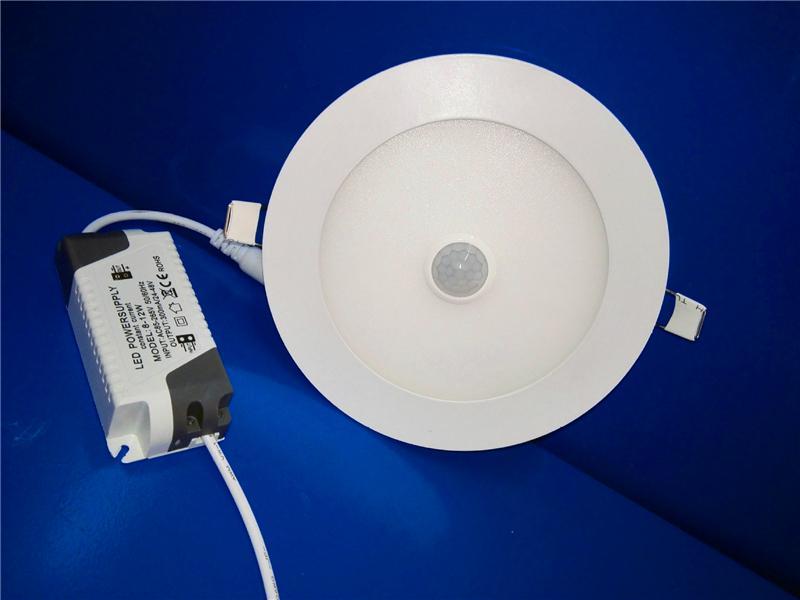 Plafoniera Sensore Di Movimento : Acquista faretto da incasso a led pannello pir sensore di