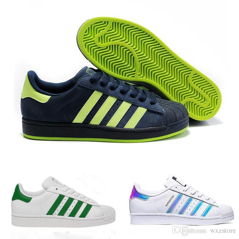 new style 0960a e5564 Compre Adidas Superstar 2018 Clásicos Zapatos Holográficos Moda Hombre  Zapatos Casuales Superstar Mujer Zapatillas Mujer Zapatillas Deportivas  Mujer Amantes ...