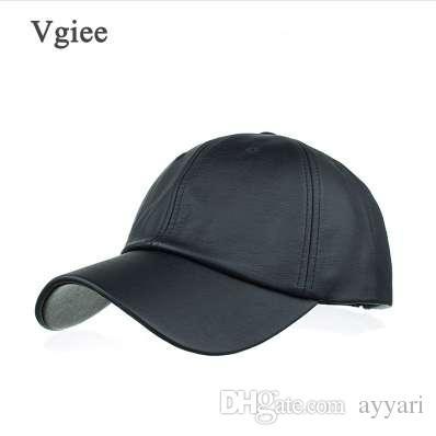Vgiee 2018 New 6 Panels 100% Leather Baseball Caps Men Black Sheepskin Leather  Hats For Men Snapback Caps Army Hats Custom Caps From Ayyari b95b1b963c4