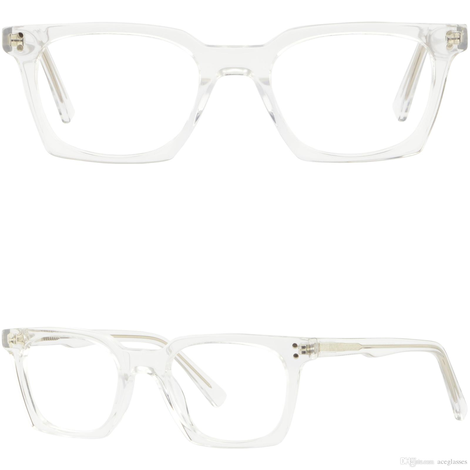 d27de61884 Small Narrow Boys Girls Womens Clear Acetate Frames Square Glasses Spring  Hinges Glasses Frame Online with  31.08 Piece on Aceglasses s Store