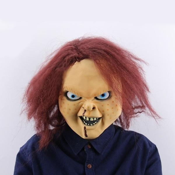 Großhandel Gruselige Scary Chucky Latex Maske Horror Ghost Film