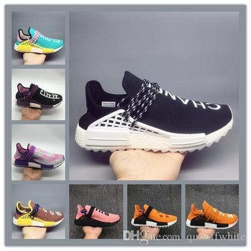 dc37bb4fd 2019 2018 Wholesale Human Race Hu Nerd Running Shoes Pharrell Williams X  NMD Runner Men Women Trainers Luxury Designer Sneakers Big Size 36 47 From  ...