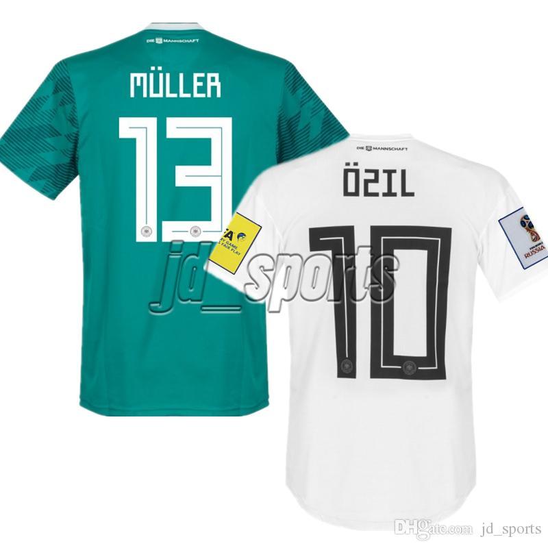 2018 World Cup Germany Home Away Soccer Jerseys Muller Reus Ozil Futbol  Camisa Football Camisetas Deutschland Shirt Kit Maillot Germany Jersey  Germany Shirt ...