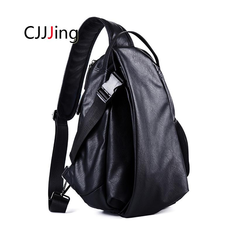 278452946a07 Men s Large Capacity Chest Bag Fashion Crossbody Back Pack Casual ...