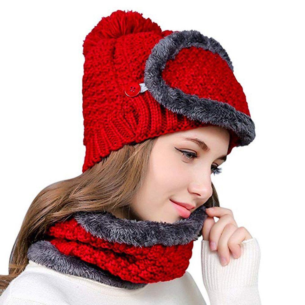 e89661a0944 Unisex Multi-function Winter Warm Plus Velvet Knit Slouchy Masks Hats  Collar Warm Caps Beanie Hat Skullies Wholesale New Arrival Skullies    Beanies Cheap ...