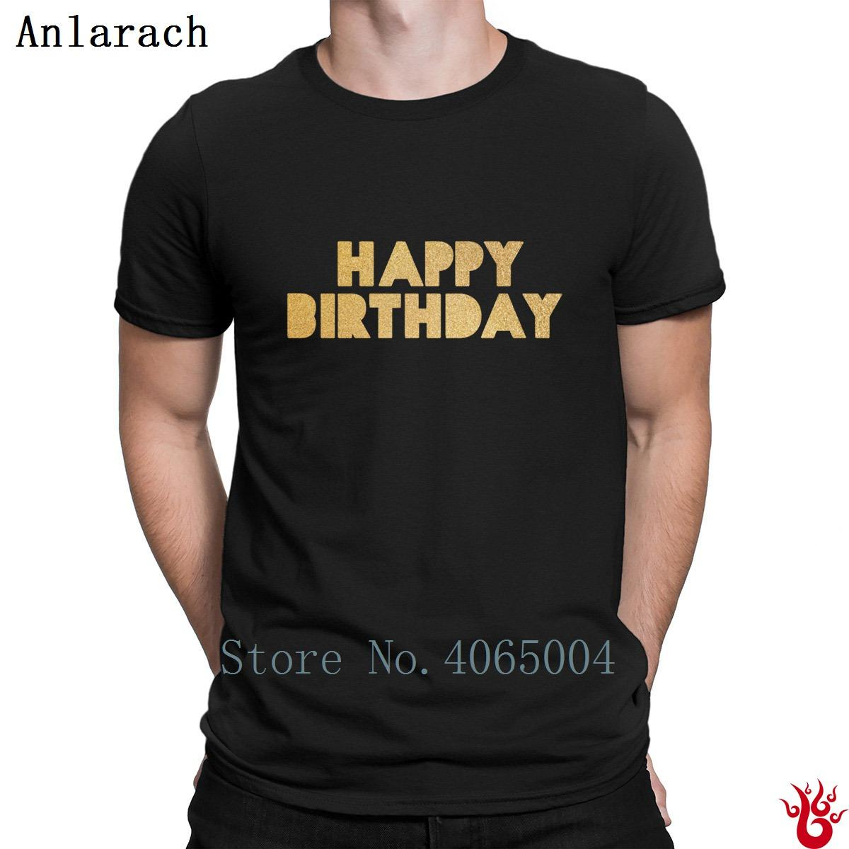 Happy Birthday Tshirts Trend Short Sleeve Character Pop Top Tee T Shirt For Men 2018 Fit Building Crew Neck Novelty Printed Shirts Design From