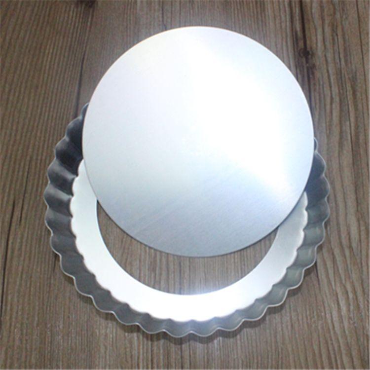 Piedras de pizza de aleación de aluminio de disco de pizza inferior antiadherente redonda de pan antiadherente de 6 pulgadas
