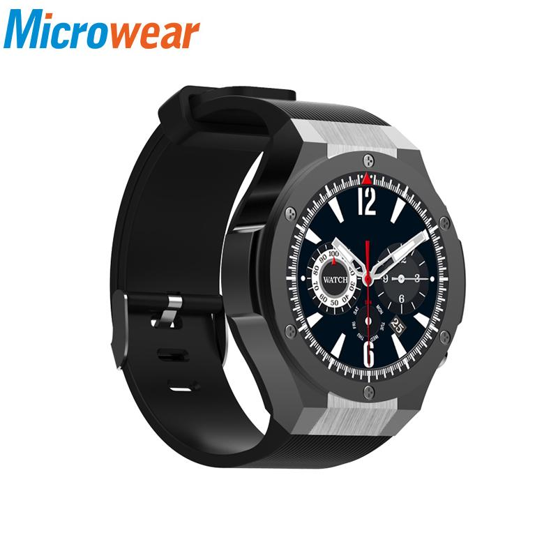 fafd117bd Microwear H2 3G Smartwatch Phone 1.39 Inch Android 5.0 MTK6580 Quad Core  16GB ROM 5.0MP Camera Heart Rate Monitor Pedometer GPS Wearable Smart  Watches Best ...