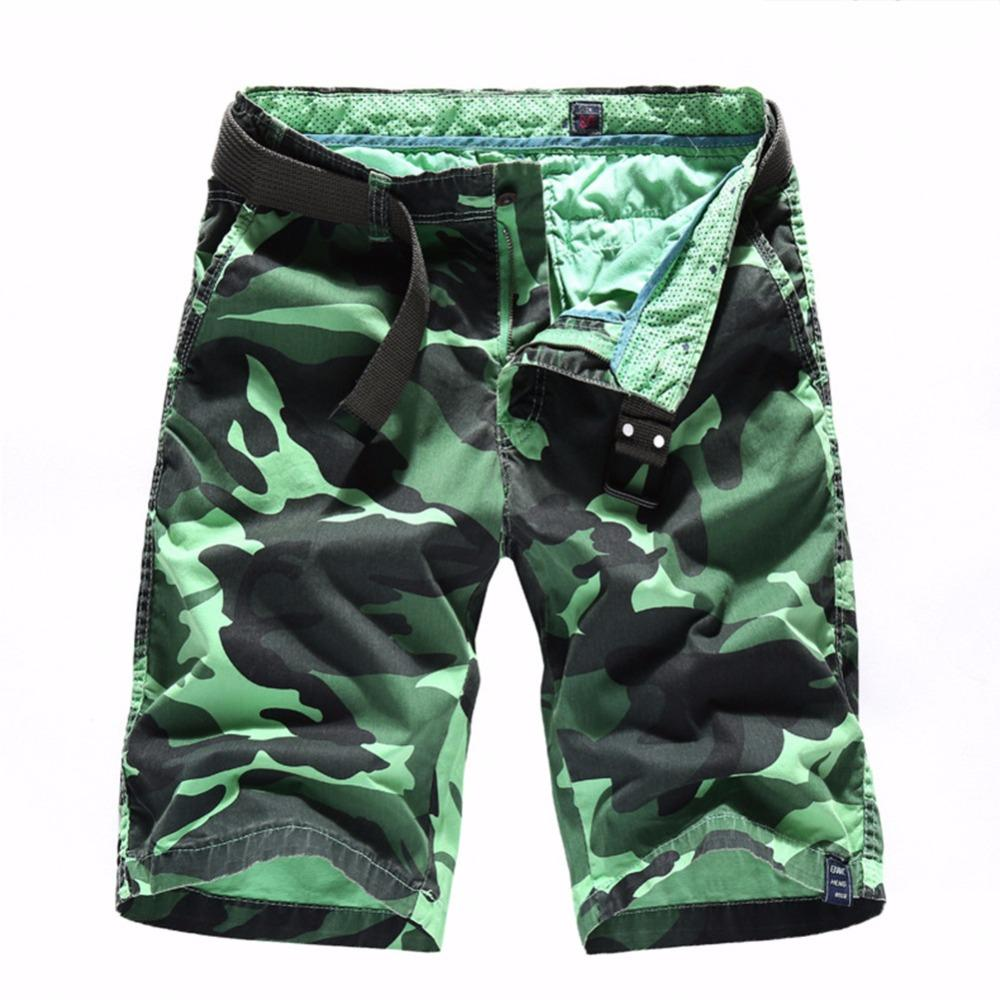7821dd23619 Compre 2018 Camo Militar De Carga Pantalones Cortos Hombres Moda De Verano  De Camuflaje Multi Bolsillo Homme Ejército Pantalones Cortos Casuales  Bermudas ...