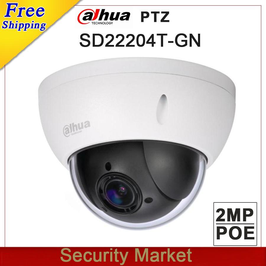 Dahua 2MP IP POE Camera SD22204T-GN HD PTZ 4x Optical Zoom WDR CCTV Mini Dome