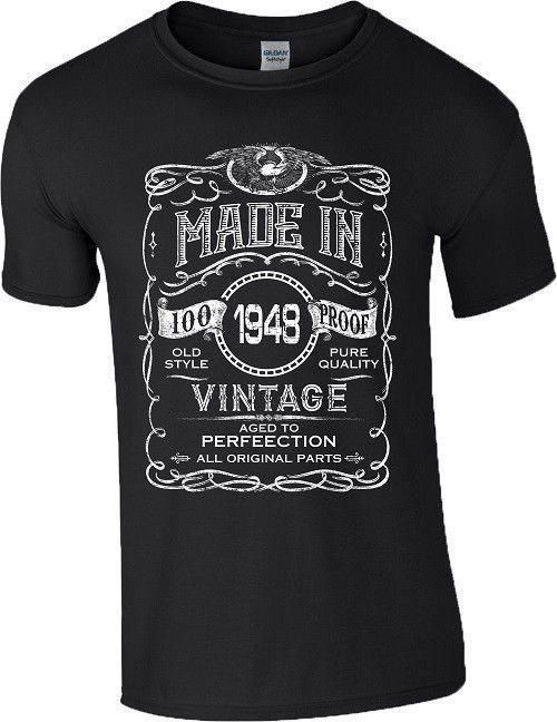 70th Birthday Gift T Shirt Made In 1948 Vintage Old Style 70 Years Mens Women Cool Tees Graphic From Amesion08 1208