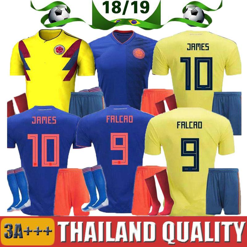 344faa110 2019 2018 World Cup Colombia Soccer Jersey Adult Kits Colombia Home Yellow  FALCAO JAMES CUADRADO Soccer Uniform Football Shirts Full Sets From  Thai jerseys