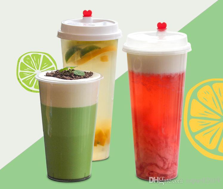 2018 90mm caliber thick transparent disposable tea cup plastic cup