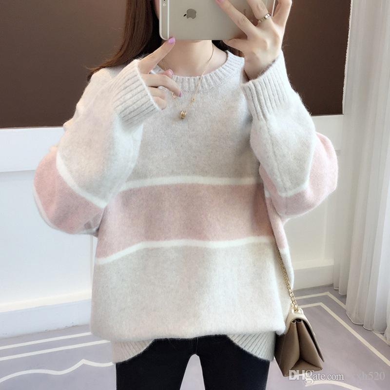 2019 2018 Autumn Korean Sweaters Womens Pullovers Loose Sweet