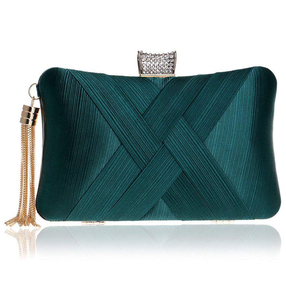 Women s Evening Clutches Bags Silk Satin