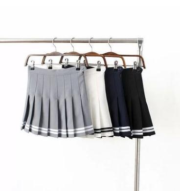 ad211cb99 2019 Summer Women Clothing High Waist Pleated Skirt Tennis Skirt White  Black Blue Yellow Black Fashion Youth From Sexystores520, $10.36 |  DHgate.Com