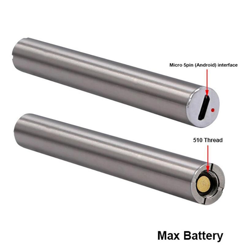Amigo Max Batterie Vorheizungsfunktion Einstellbare Spannungs-Vaporizer Pen 2 Arten von Ladeböden Gebühr für dickes Öl Cartridge