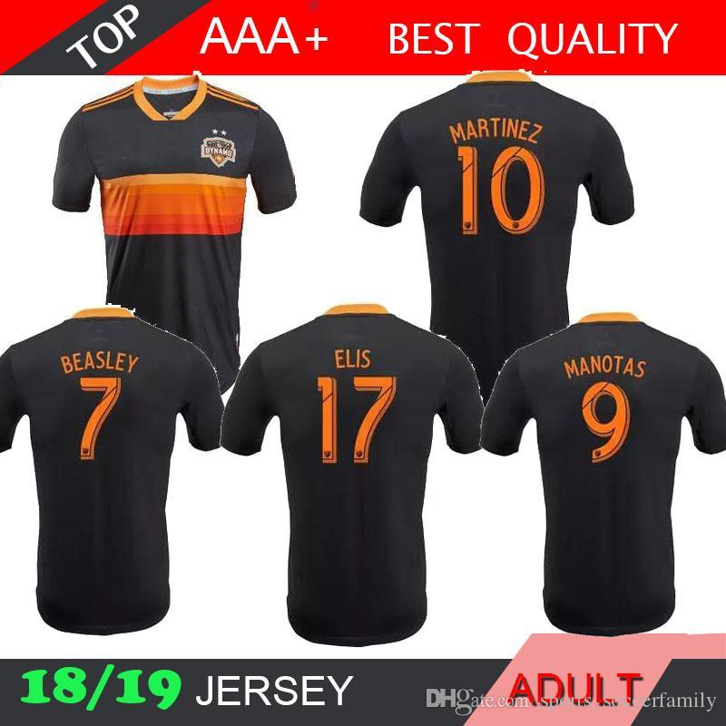 new product 718ae e7e08 Player version 2018 2019 Houston Dynamo Jersey Martinez Manotas Elis  Beasley Cabezas Football Shirt 18 19 Houston Dynamo away soccer Jersey