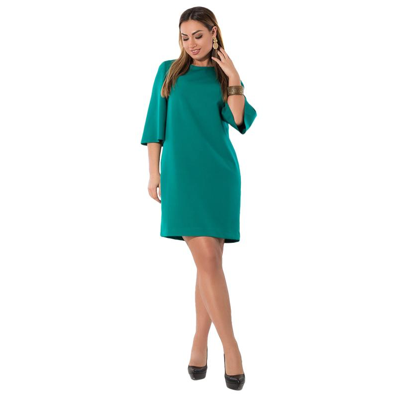 df2fdc22e1 2018 Summer Dress Flare Sleeve Plus Size Women Dress Green Casual Office  Work 5XL 6XL Famele Big Vestidos