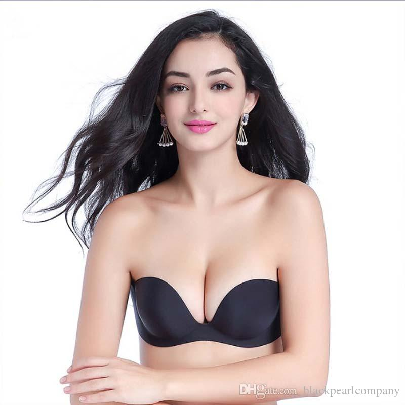 dde7fcb5c5c21 2018 Fashion Women Seamless Strapless Bra Push Up Padded Soutien ...