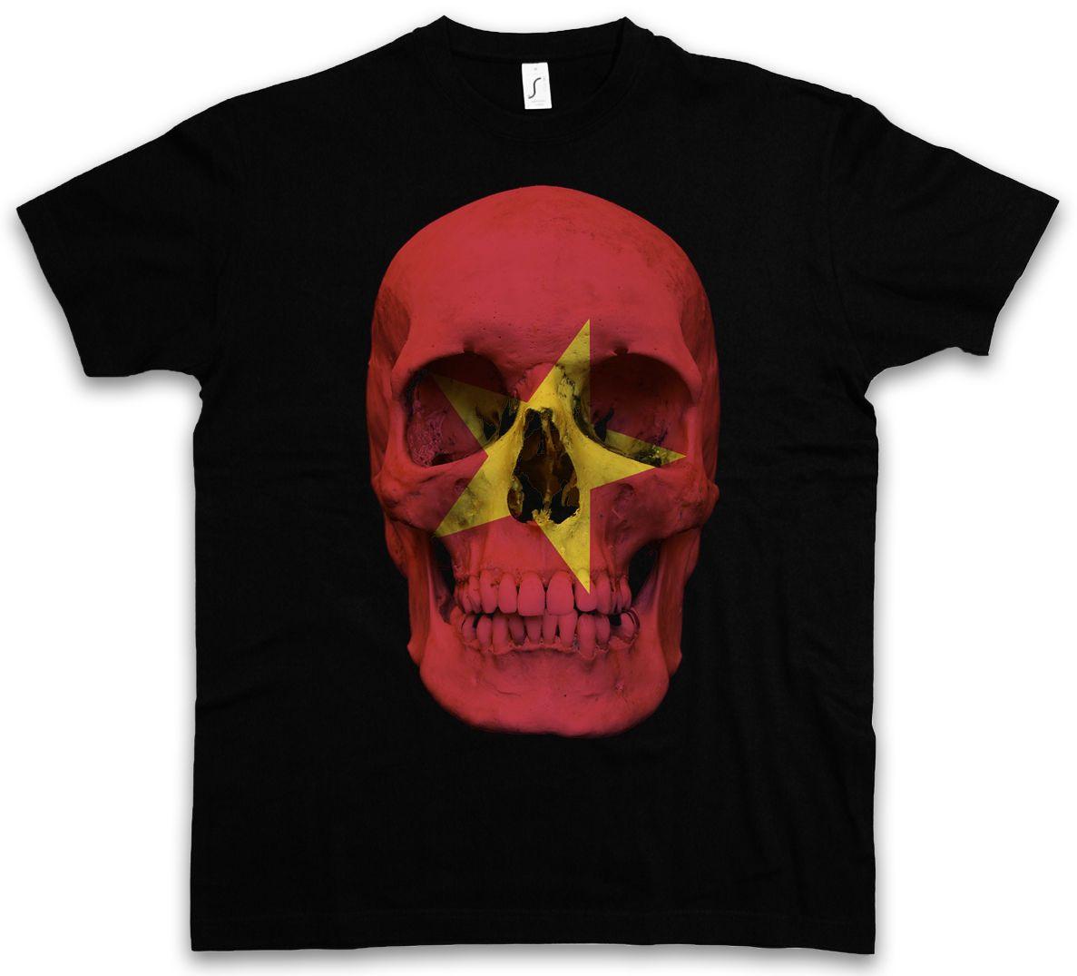 Classic Vietnam Skull Flag T Shirt Biker Mc Banner Shirt Sizes S 5xl