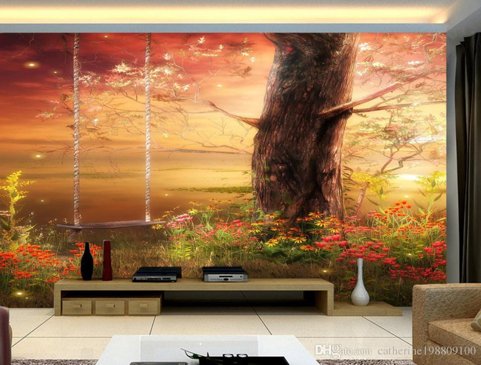 3D Wallpaper Custom Any Size Mural Wallpaper TV setting wall fairy wonderland dreams Personality Wall Mural Wallpaper Painting