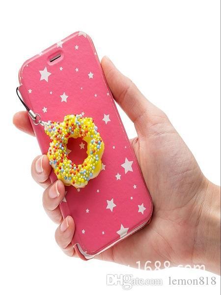 Yeni sıcak 11 cm sevimli ayı mix ramdom renk yumuşacık donut yavaş ribaund yükselen dekompresyon oyuncak sevimli fonoke ...