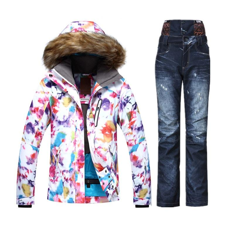 243f472ca2b9 Wholesale- 2018 GSOU Warm Windproof Colorfull Printed Ski Suit ...