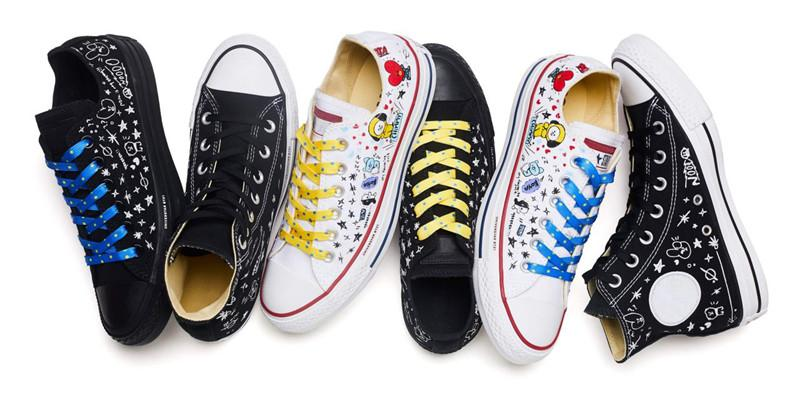 7dfd415107b9 Universtar BT21 Star Men Women Cartoon Characters Sneakers 2018 New Fashion  Black White Low High Top Skateboarding Shoes Size 35 44 Gold Shoes Mens  Casual ...