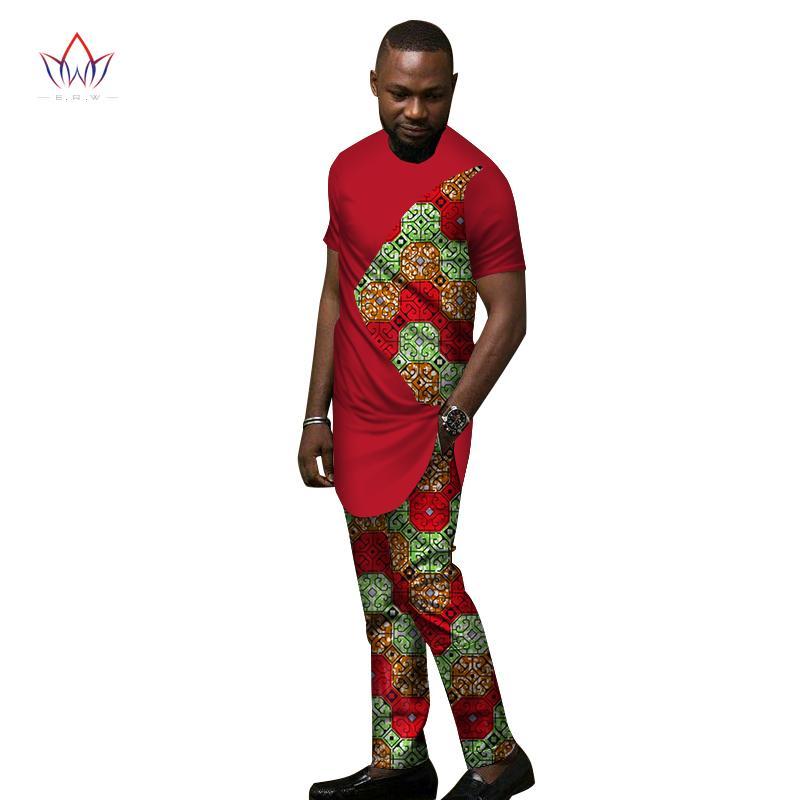 7fd4a853a1 Compre 2018 Bazin Riche Africano Impressão De Cera Patchwork Top E Calças  Conjuntos Ankara Roupas 2 Peças Conjuntos De Calças Mens Africano Roupas  WYN438 De ...