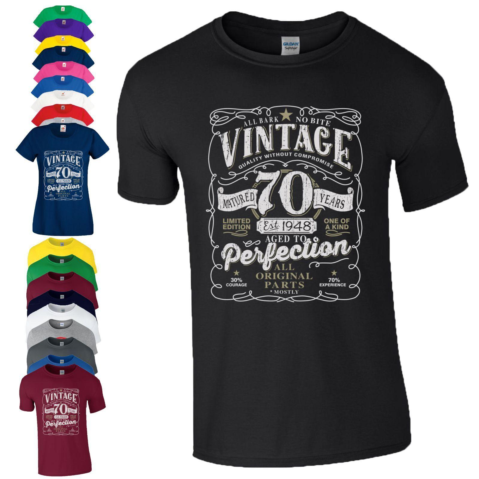 354294adc 70th Birthday Gift T Shirt Made In 1948 Original Parts 70 Years Mens Ladies  Top Cool Casual Pride T Shirt Men Unisex White T Shirts With Designs Cloth T  ...