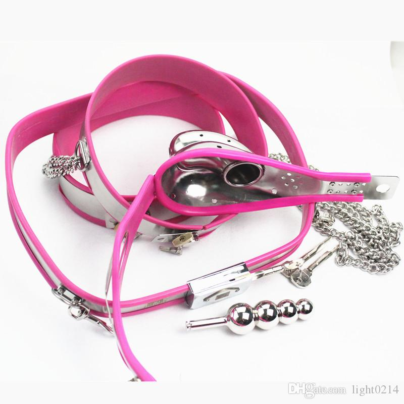 Stainless Steel Male Chastity Belt Thigh Rings Cock Cages Anal Plug Penis Bondage Device Adult Toys for Men G7-4-36