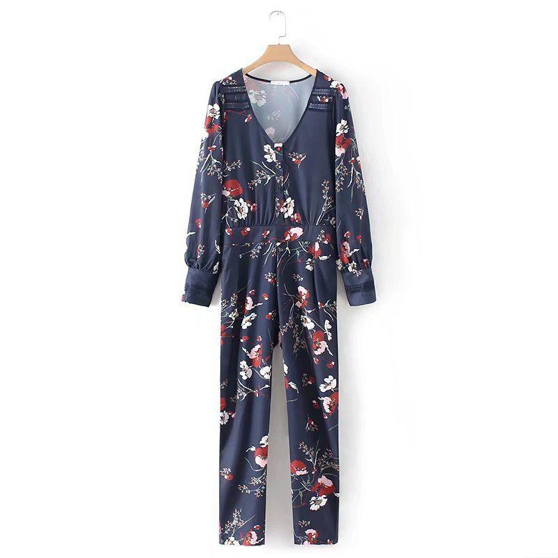 5adce64667 Print floral jumpsuit new arrival jumpsuit long sleeves jpg 800x800 Floral  jumpsuit with sleeves