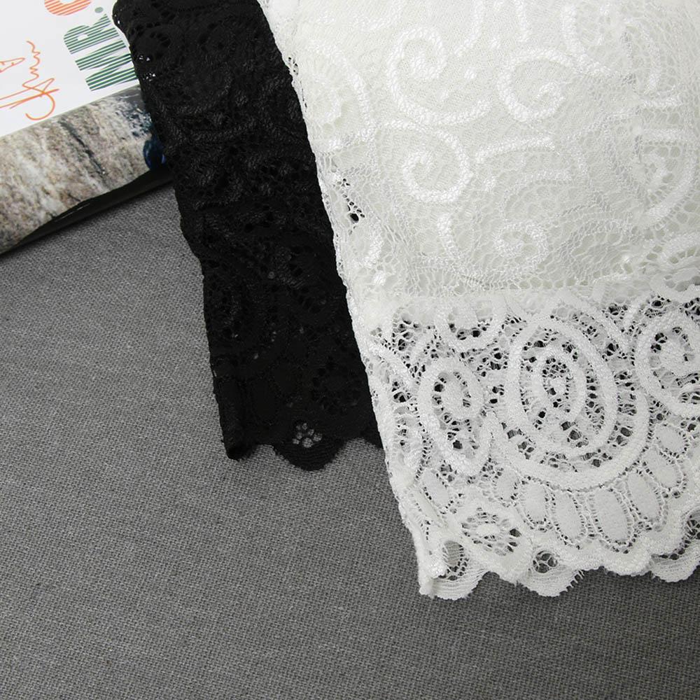 Sexy Women Lace Cotton Tank Tops Sexy V Neck Crochet Vest Casual Bralette Strapless Bandeau Bustier Crop Tops Steampunk Bra