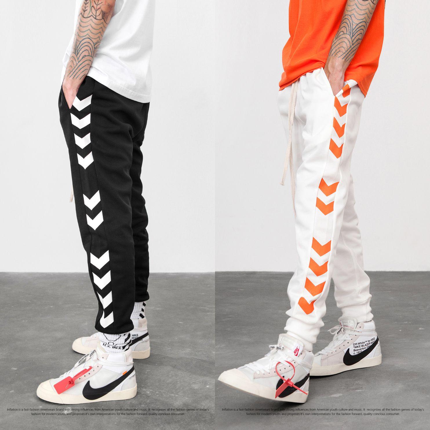6775479f Justdon New Mens Wonmen FOG Style Streetwear Jogger Pants Lengthen ...