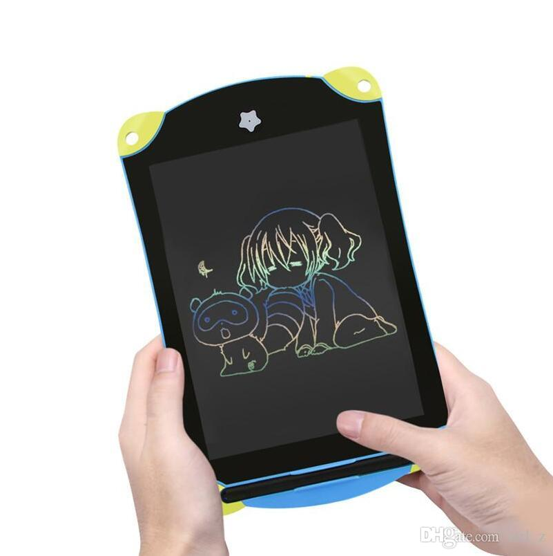 Cartoon 8.5 inch LCD Writing Tablet Digital Drawing Tablet Colorful Handwriting Pads Portable Graphic Blue Electronic Board for Children