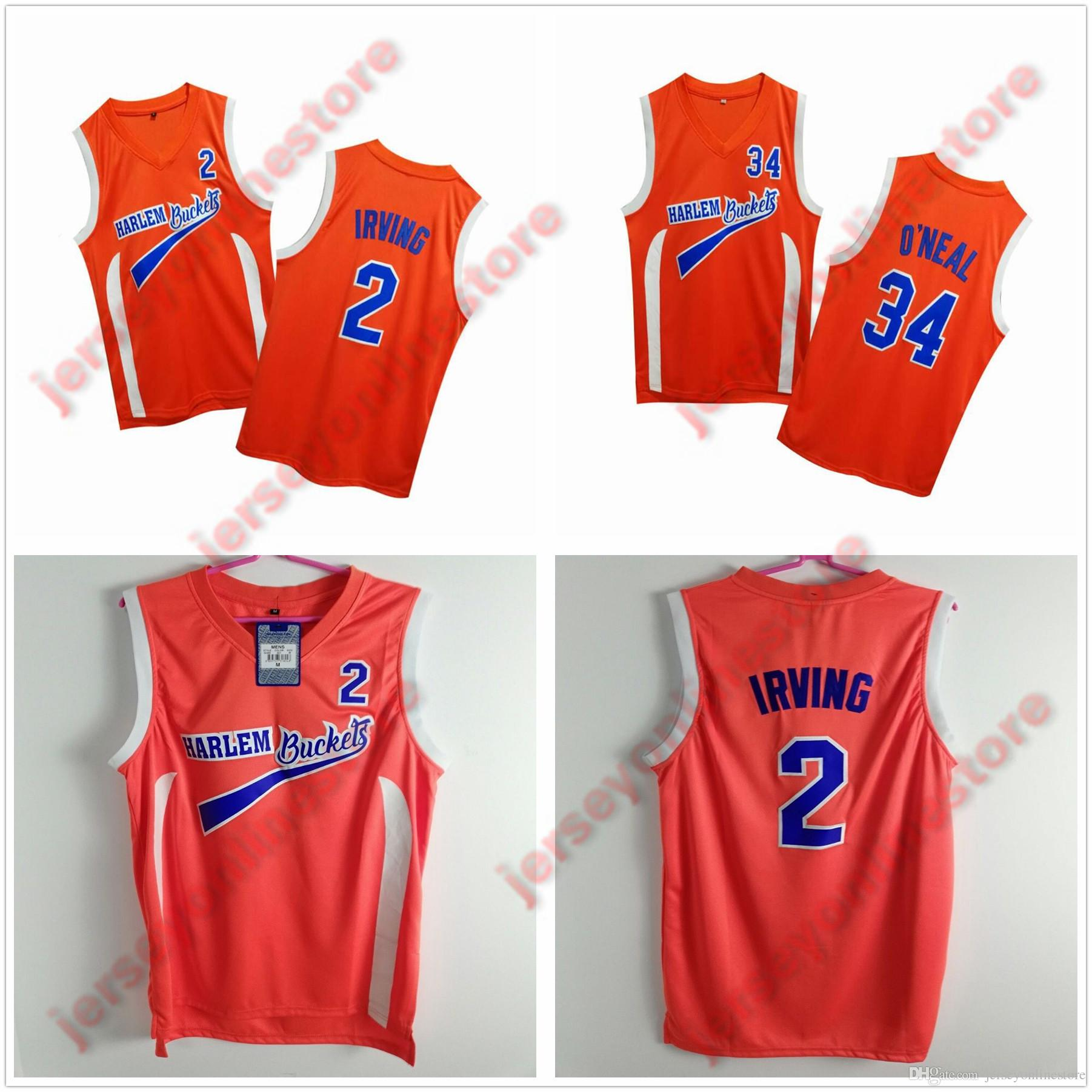 best loved 07781 3d5ca Mens Uncle Drew #2 Harlem Buckets Kyrie Irving Movie Jersey Orange Stitched  O Neill Film Basketball Jerseys